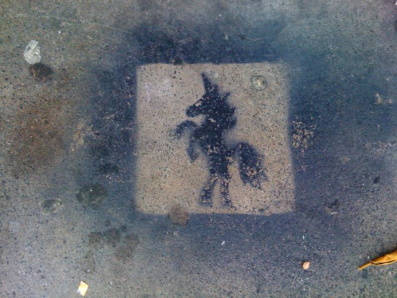 Sidewalk Unicorn