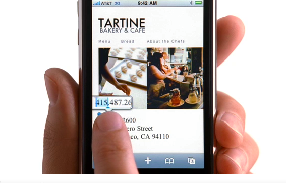 iPhone Ad, Tartine