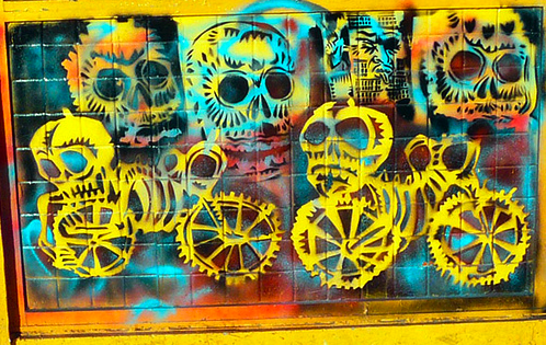 Skeleton on Wheels