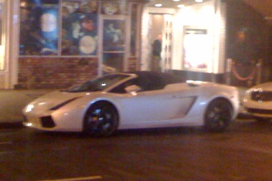 Sports car on Mission St.