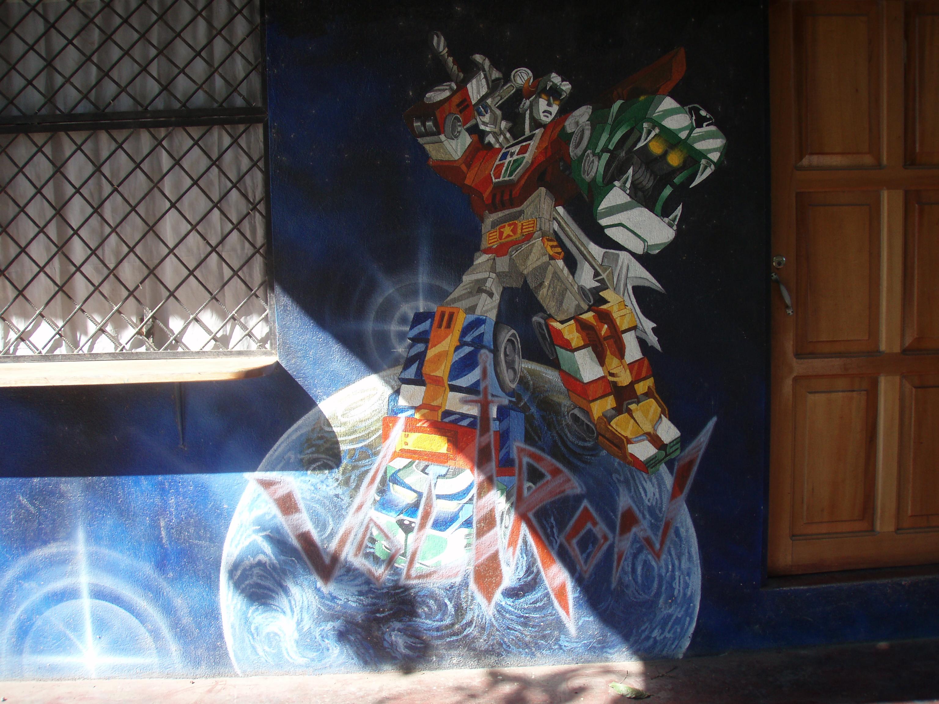 voltron street art - Puerto Jimenez, Costa Rica