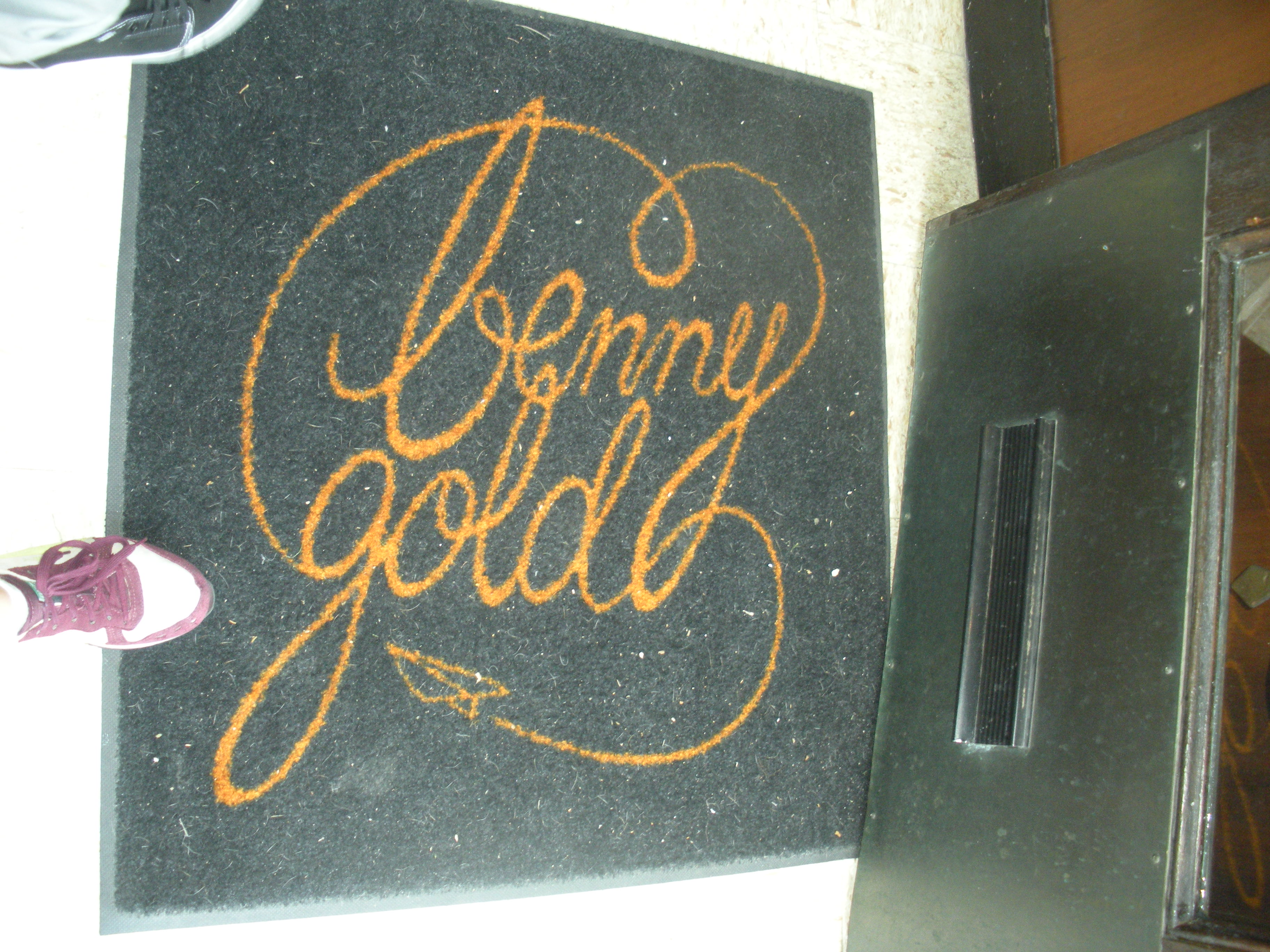 His Very Own Welcome Mat His parents Jerry Weiner and