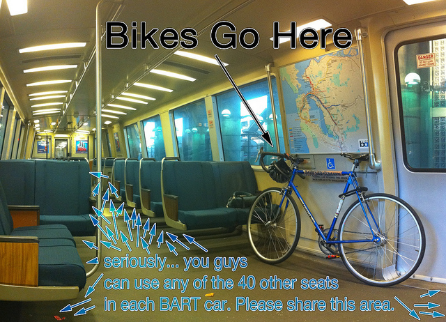 Bikes On Bart Rules often get shafted on BART