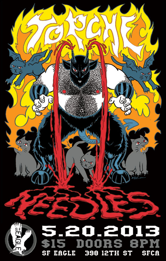 Check out this absolutely sick poster for tonight's show at the Eagle starring Torche and Needles