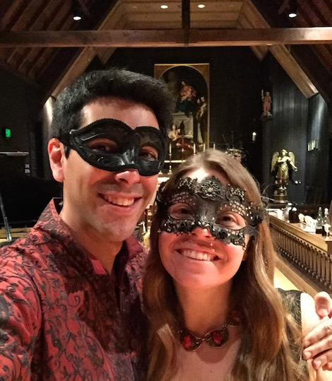 Sam & Brittany In Masked-Ball Finery