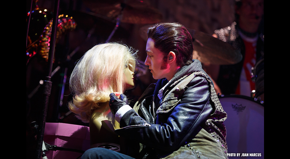 Lena Hall in her Tony Award winning role of Yitzhak in Hedwig and the Angry Inch.