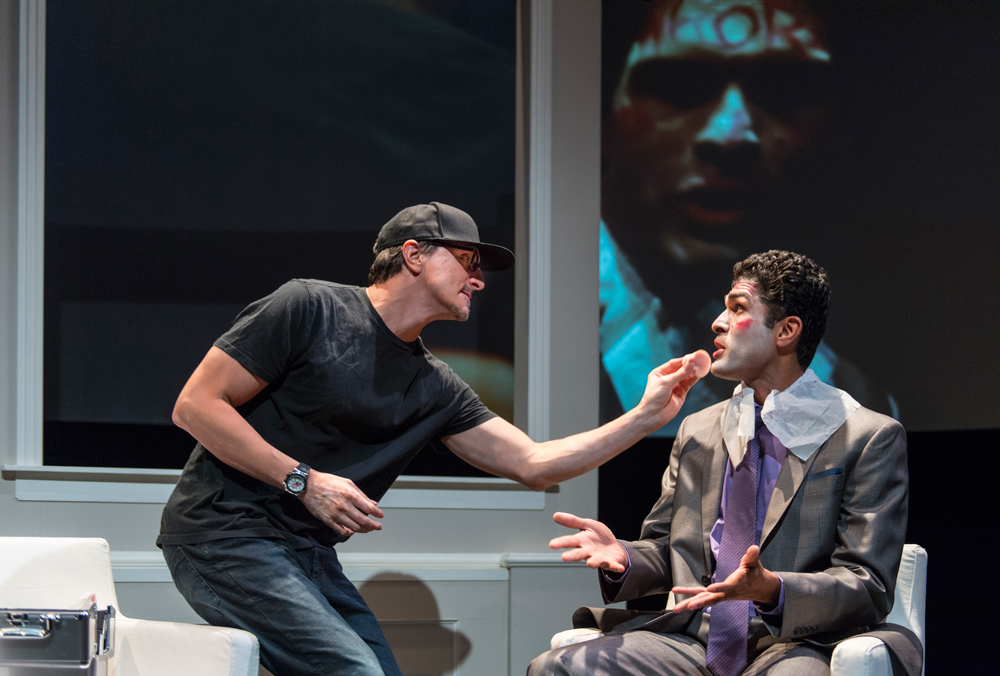 James Asher as Gamal (left)  and Kunal Prasad as Mohsen (right)